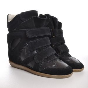 New ISABEL MARANT Black Wedge Bekett Sneakers